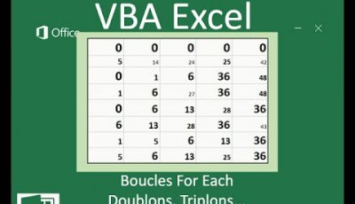 Boucles d'instruction For Each en VBA Excel