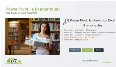 Power Pivot, la révolution Excel Raison N°4/5